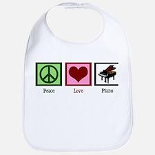Peace Love Piano Bib