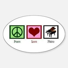 Peace Love Piano Decal