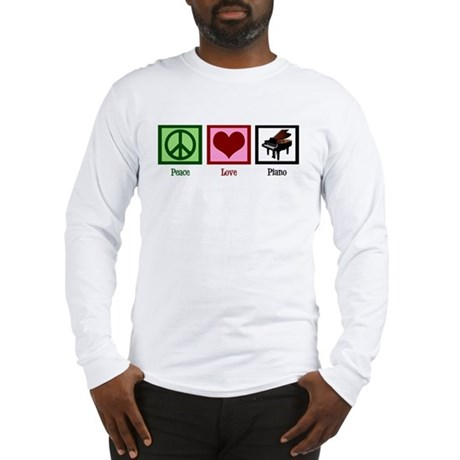 Peace Love Piano Long Sleeve T-Shirt