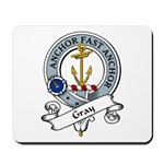 Gray Clan Badge Mousepad