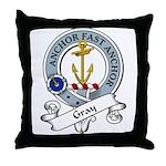 Gray Clan Badge Throw Pillow