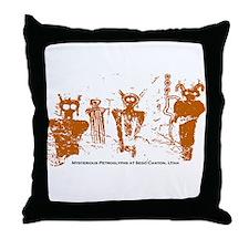 Sego Canyon Glyphs Throw Pillow