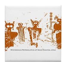 Sego Canyon Glyphs Tile Coaster
