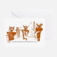 Sego Canyon Glyphs Greeting Card