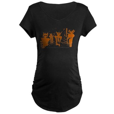 Sego Canyon Glyphs Maternity Dark T-Shirt
