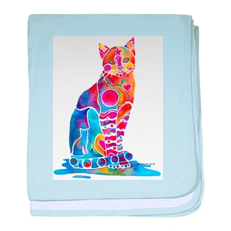 Whimsical Elegant Cat baby blanket