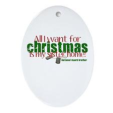 All I want Sister NG Sister Ornament (Oval)
