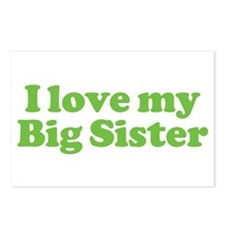 I Love My Big Sister Postcards (Package of 8)