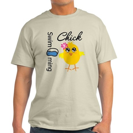 Swimming Chick v3 Light T-Shirt