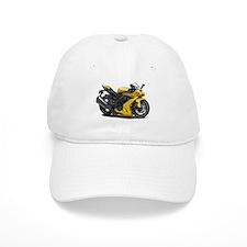 Ninja Yellow Bike Baseball Cap