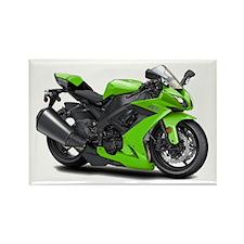 Ninja Green Bike Rectangle Magnet