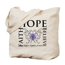 Faith Hope Butterfly Hodgkins Tote Bag