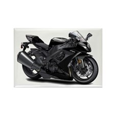 Ninja Black Bike Rectangle Magnet