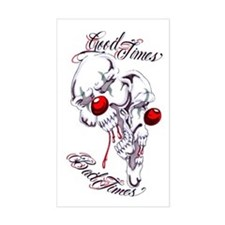 Good Times Bad Times Clown Sk Sticker (Rectangular