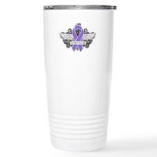 Survivor Wings Hodgkins Travel Mug