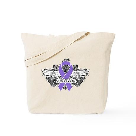 Survivor Wings Hodgkins Tote Bag