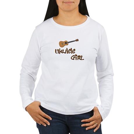 girls ukulele Women's Long Sleeve T-Shirt