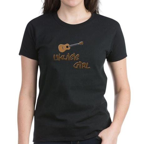 girls ukulele Women's Dark T-Shirt