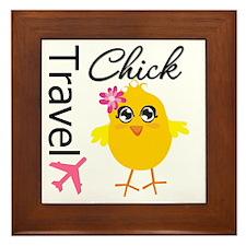Travel Chick Framed Tile