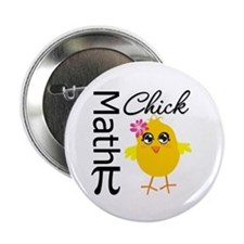 "Math Chick 2.25"" Button"