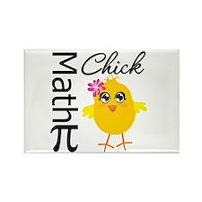 Math Chick Rectangle Magnet