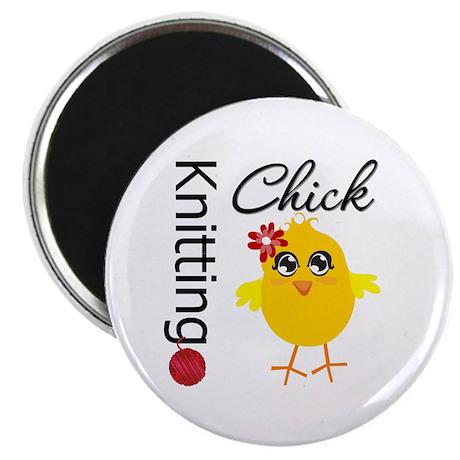 "Knitting Chick 2.25"" Magnet (100 pack)"
