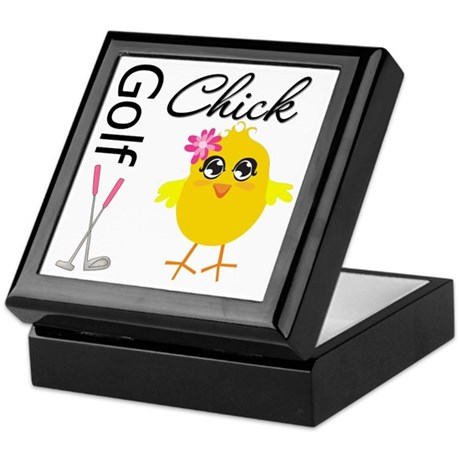 Golf Chick v2 Keepsake Box