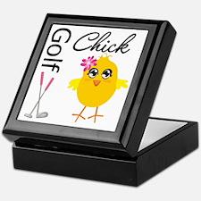 Golf Chick v2 Keepsake Box