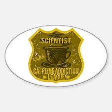 Scientist Caffeine Addiction Sticker (Oval)