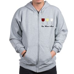 Red White and Blue (Empty) Wi Zip Hoodie