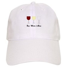Red White and Blue (Empty) Wi Baseball Cap