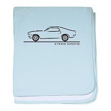 1970 Mustang Fastback baby blanket