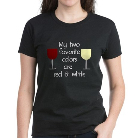 My two favorite colors are re Women's Dark T-Shirt