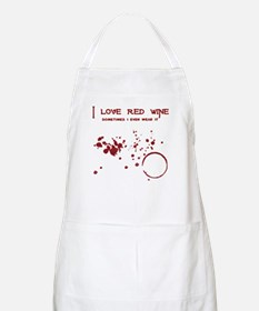 I Love Red Wine Sometimes I W Apron