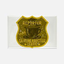 Reporter Caffeine Addiction Rectangle Magnet