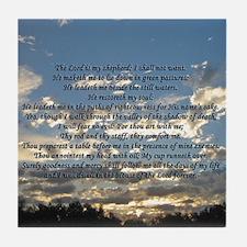 Beautiful Psalm 23 Tile Coaster