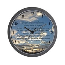 Beautiful Psalm 23 Wall Clock