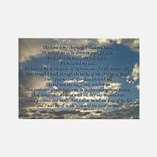 Beautiful Psalm 23 Rectangle Magnet