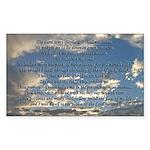 Beautiful Psalm 23 Sticker (Rectangle)