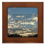 Beautiful Psalm 23 Framed Tile