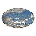 Beautiful Psalm 23 Sticker (Oval)