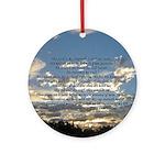 Beautiful Psalm 23 Ornament (Round)
