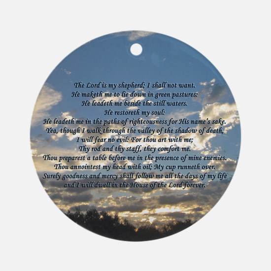 Beautiful Psalm 23 Ornament (Round)