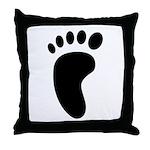 Foot Print Throw Pillow