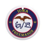 Iowa Masons Ornament (Round)