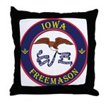 Iowa Masons Throw Pillow