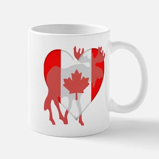 I Love Canada Moose Mug