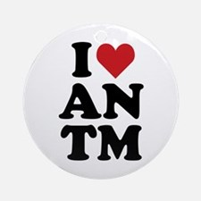 I Heart ANTM Ornament (Round)