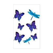 Purple Butterfly Rectangle Decal