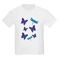 Purple Butterfly Kids T-Shirt